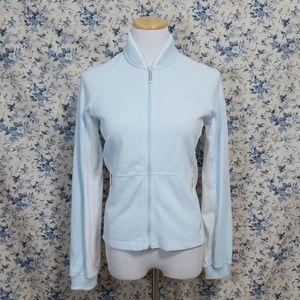 Nike Dri-Fit Preppie Style Jacket Coat blue white